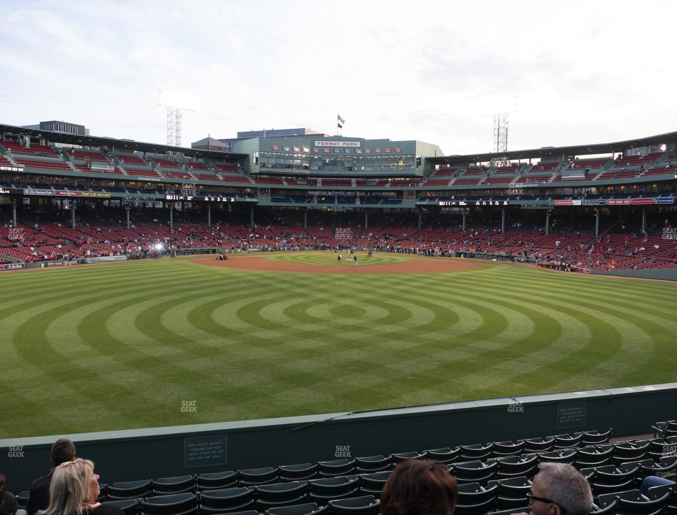 Boston Red Sox at Fenway Park Bleacher 35 View