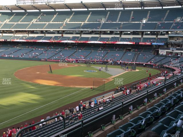 Angel Stadium of Anaheim Section 308 view