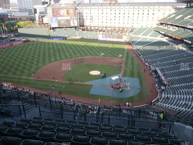 Oriole Park at Camden Yards Section 346 view