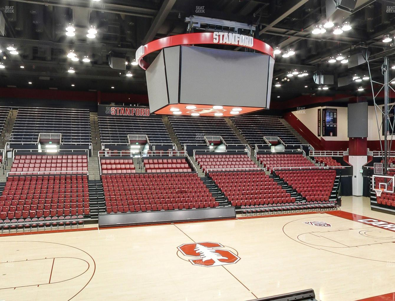 Stanford Cardinal Basketball at Maples Pavilion Section 10 View