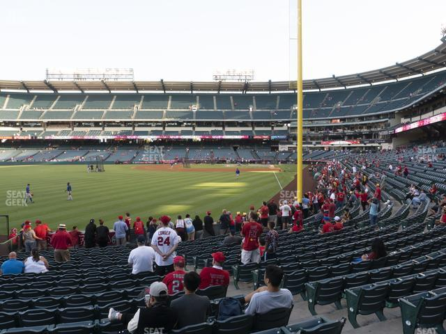 Angel Stadium of Anaheim Section 102 view