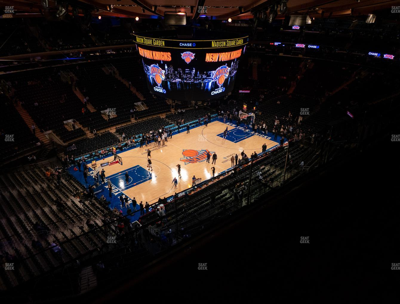 New York Knicks at Madison Square Garden Section 310 View