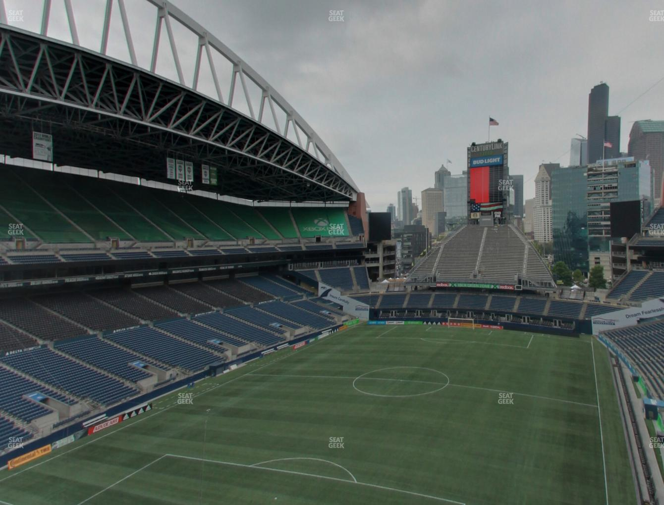 Seattle Sounders FC at CenturyLink Field Lower 319 View