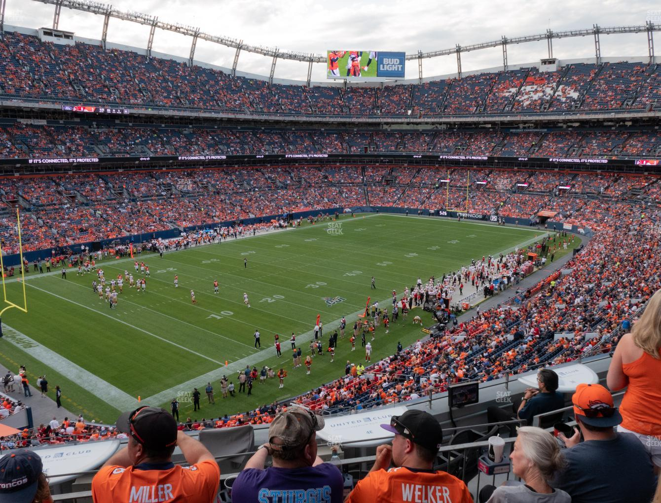 Denver Broncos at Empower FIeld at Mile High Section 345 View