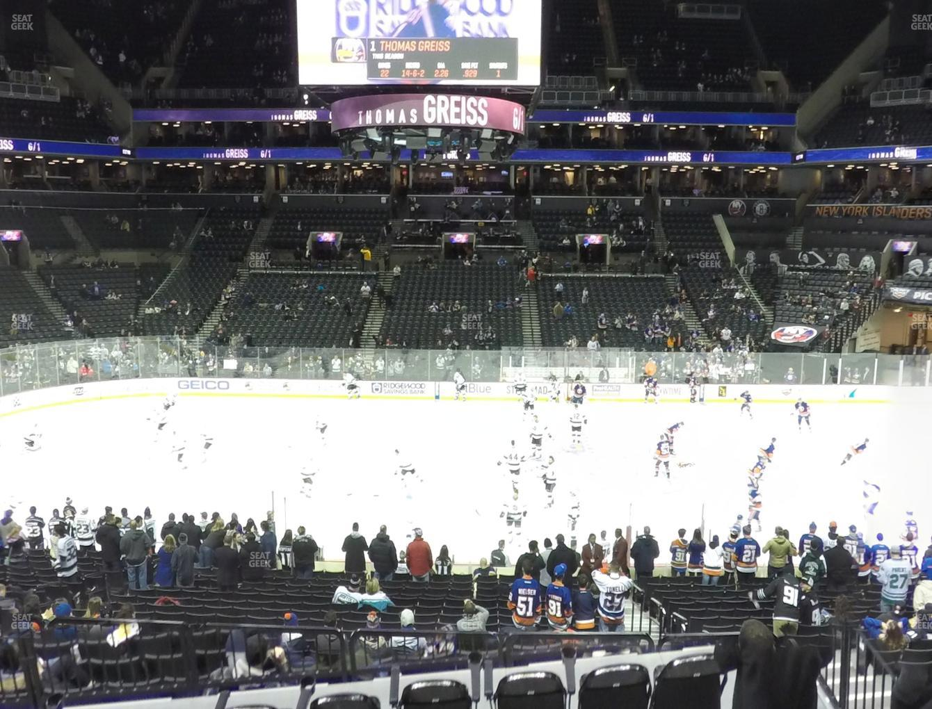 New York Islanders at Barclays Center Section 108 View