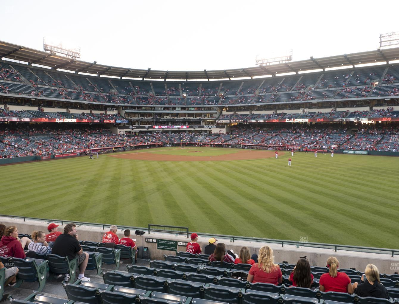 Los Angeles Angels at Angel Stadium of Anaheim Section 240 View