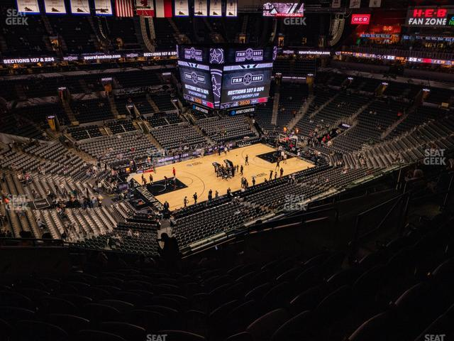 AT&T Center Section 227 view
