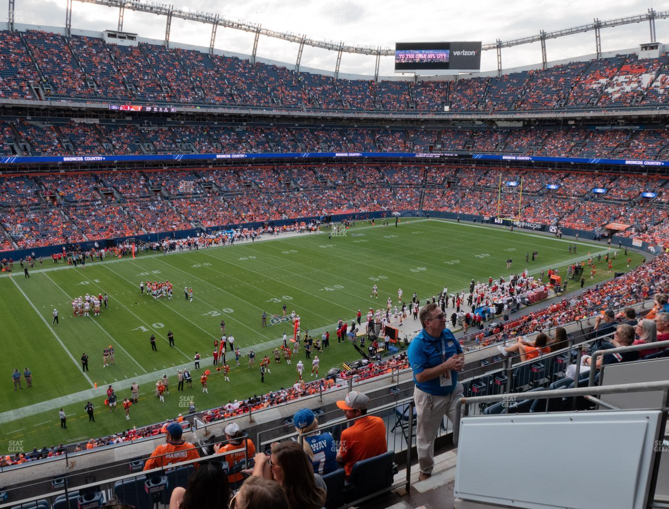 Denver Broncos at Empower Field at Mile High Section 343 View