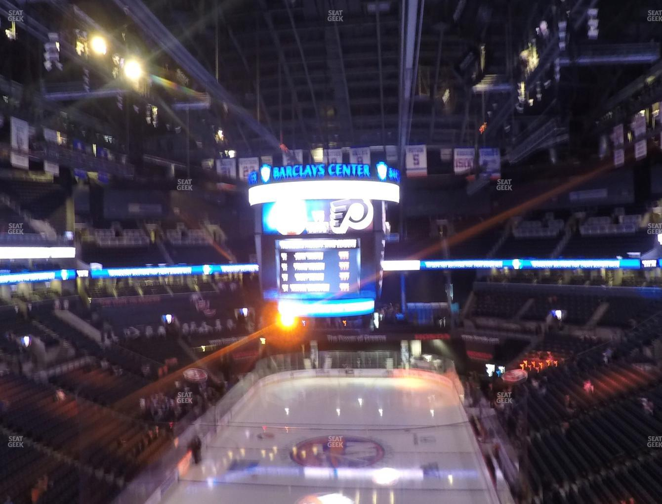 New York Islanders at Barclays Center Section 215 View