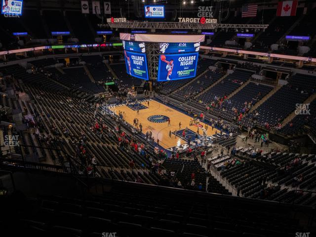 Target Center Section 225 view