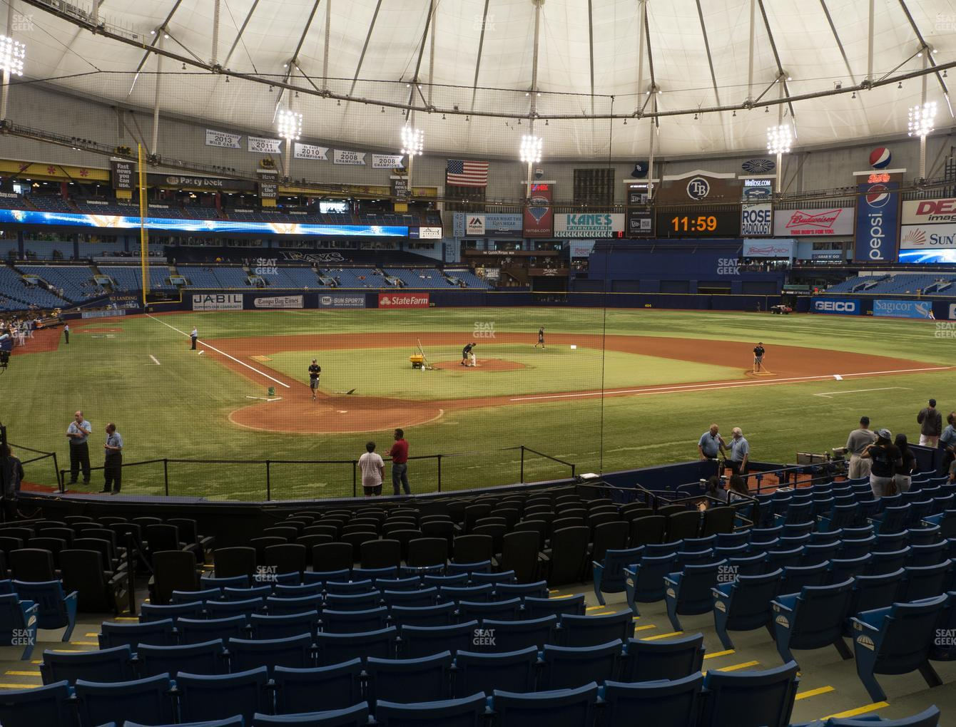 Tampa Bay Rays at Tropicana Field Section 104 View