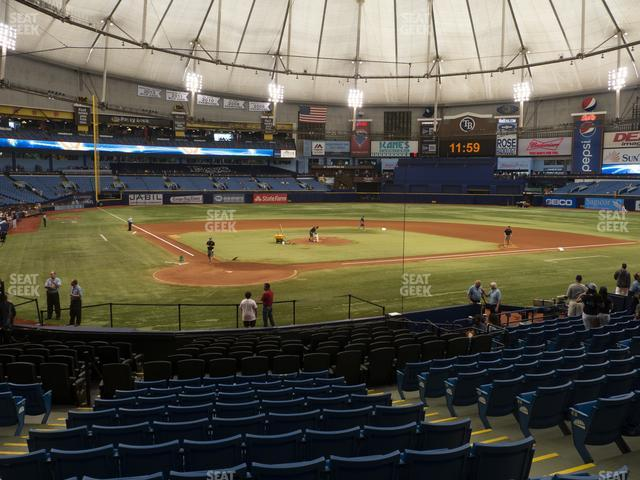 Tropicana Field Section 104 view