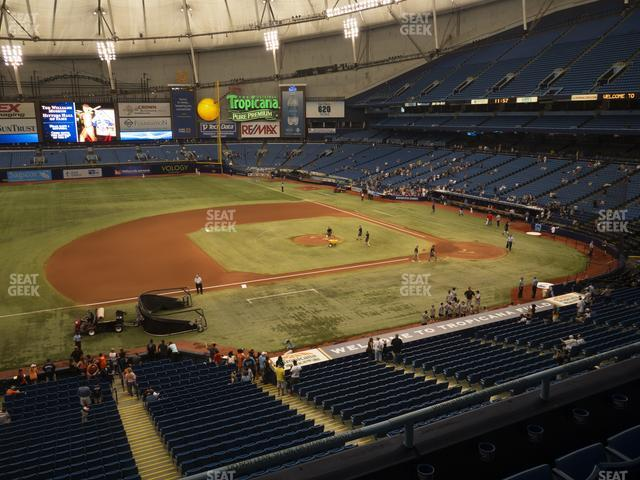 Tropicana Field Section 213 view