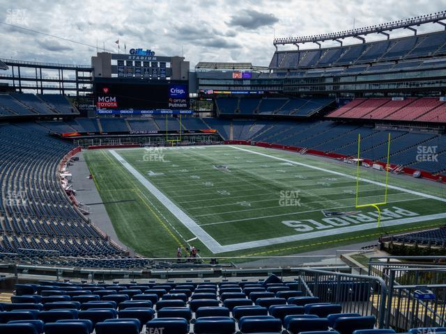 Gillette Stadium Section 201 view
