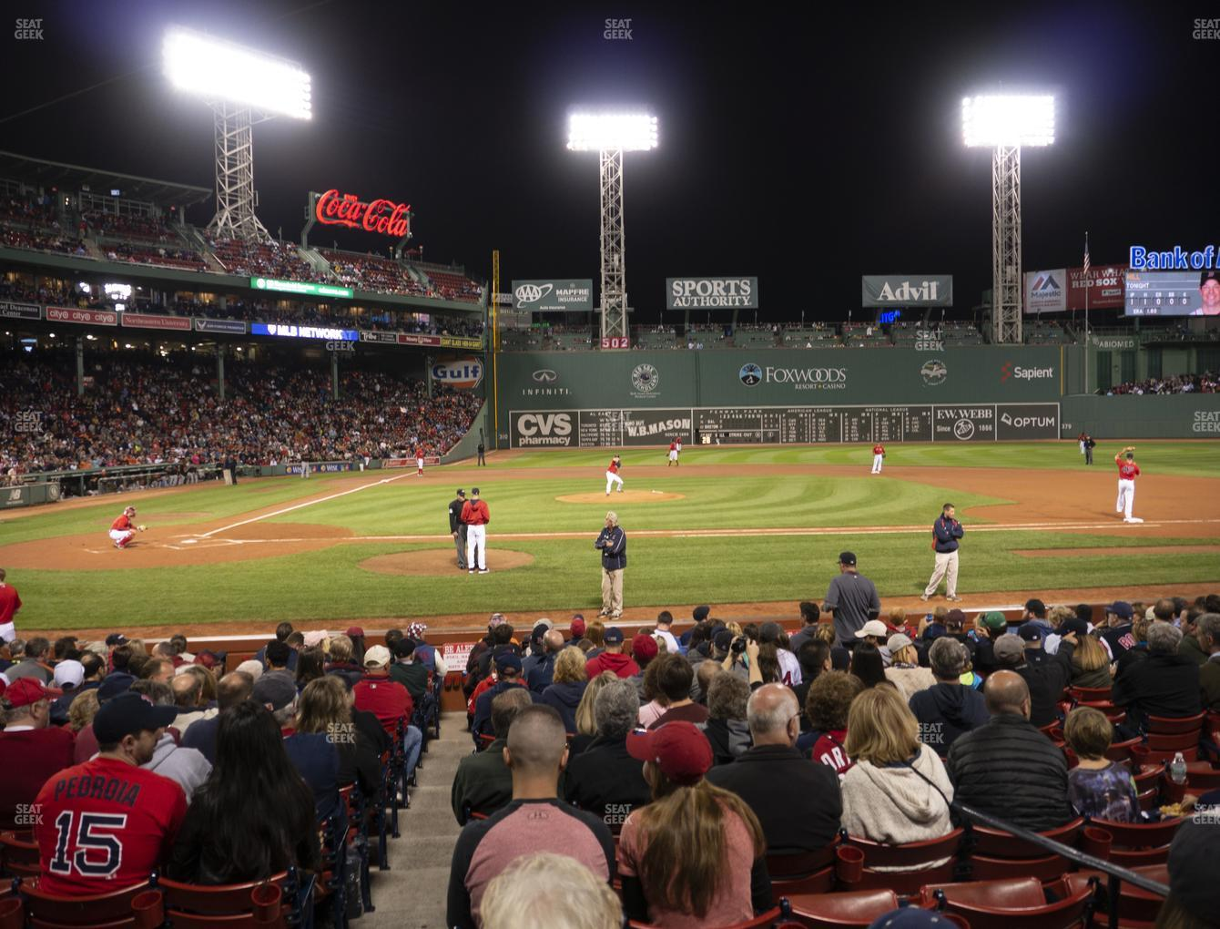 Boston Red Sox at Fenway Park Loge Box 117 View