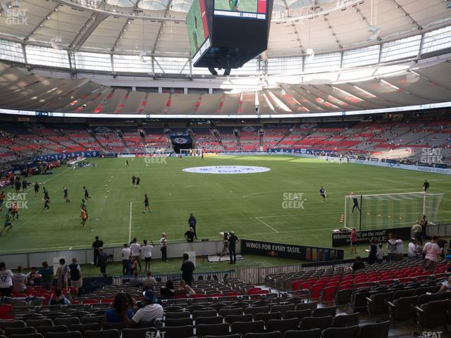 BC Place Stadium Section 202 view