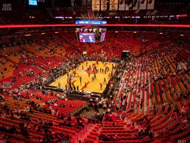 American Airlines Arena Section 331 view