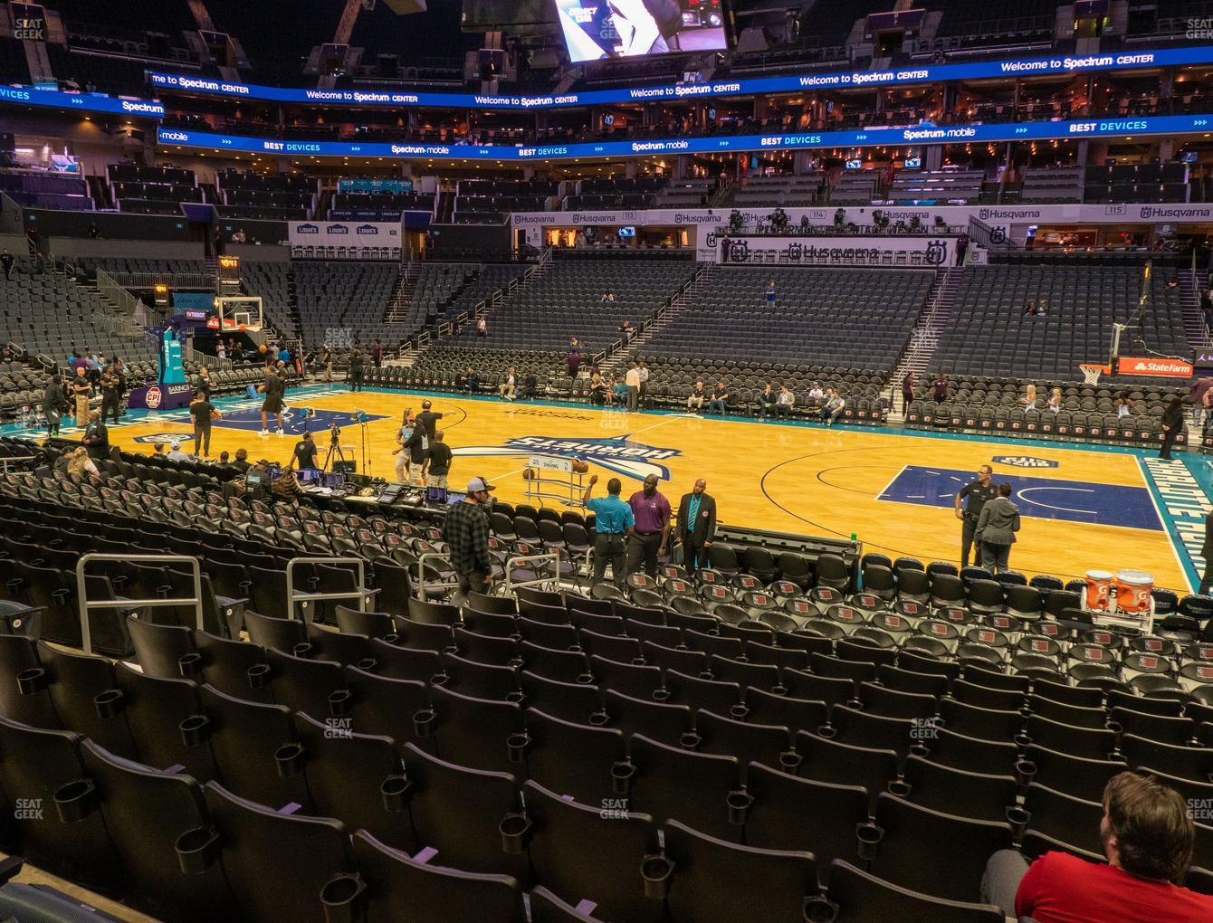 Spectrum Center Section 104 Seat Views