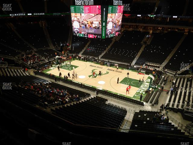 Fiserv Forum Section 206 view