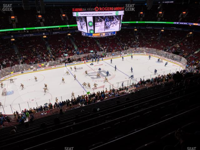 Rogers Arena Section 409 view
