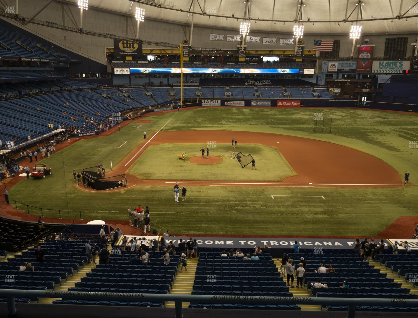 Tampa Bay Rays at Tropicana Field Section 210 View