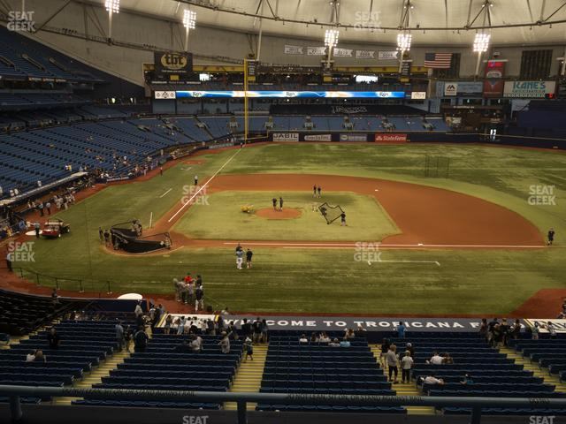 Tropicana Field Section 210 view