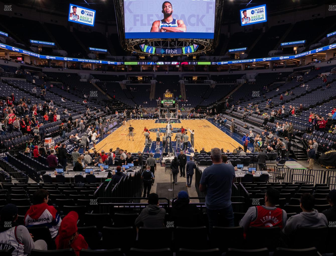 Minnesota Lynx at Target Center Section 121 View