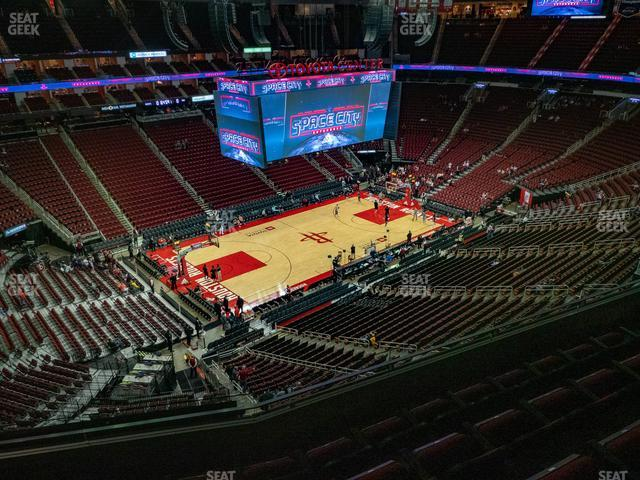 Toyota Center Section 430 view