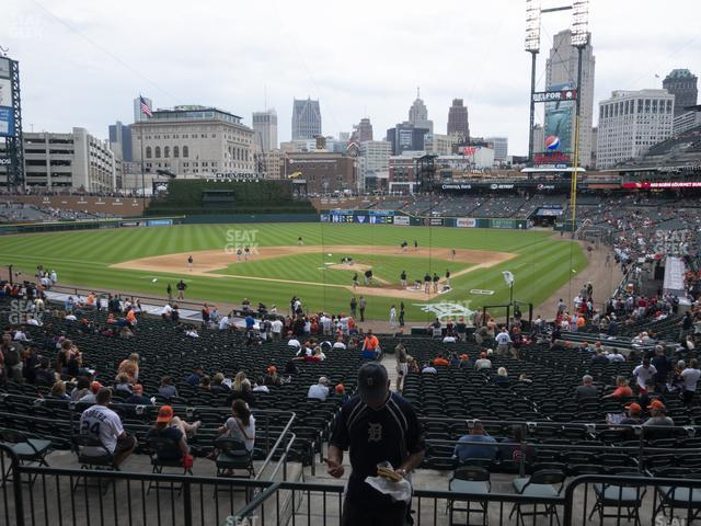 Comerica Park Section 129 view