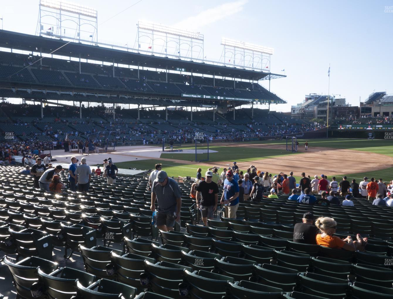 Chicago Cubs at Wrigley Field Section 127 View
