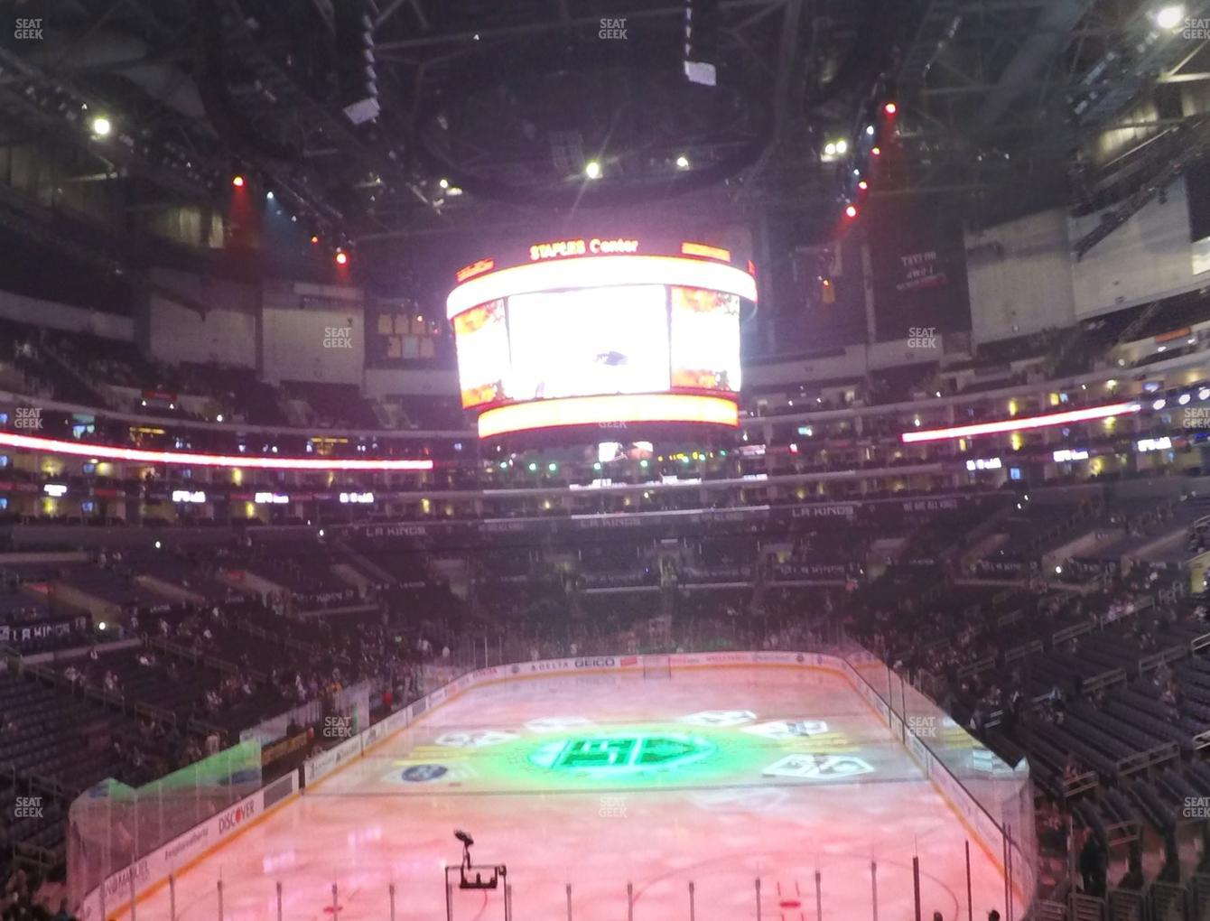 Los Angeles Kings at Staples Center Section 216 View
