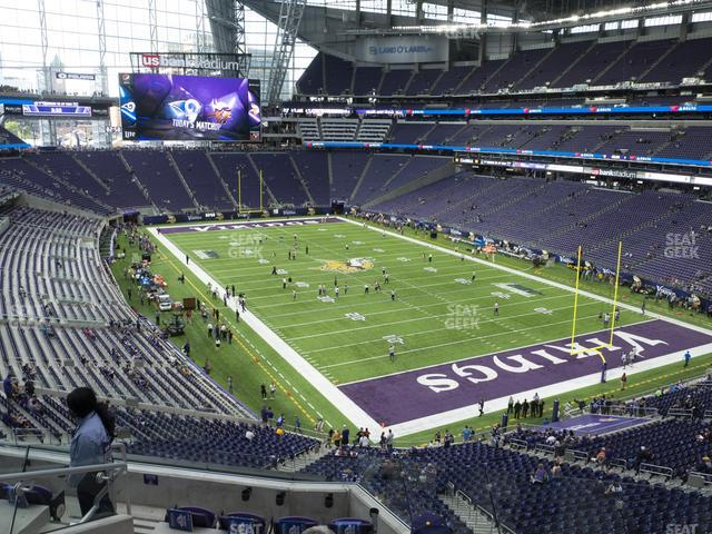 U.S. Bank Stadium Section 225 view