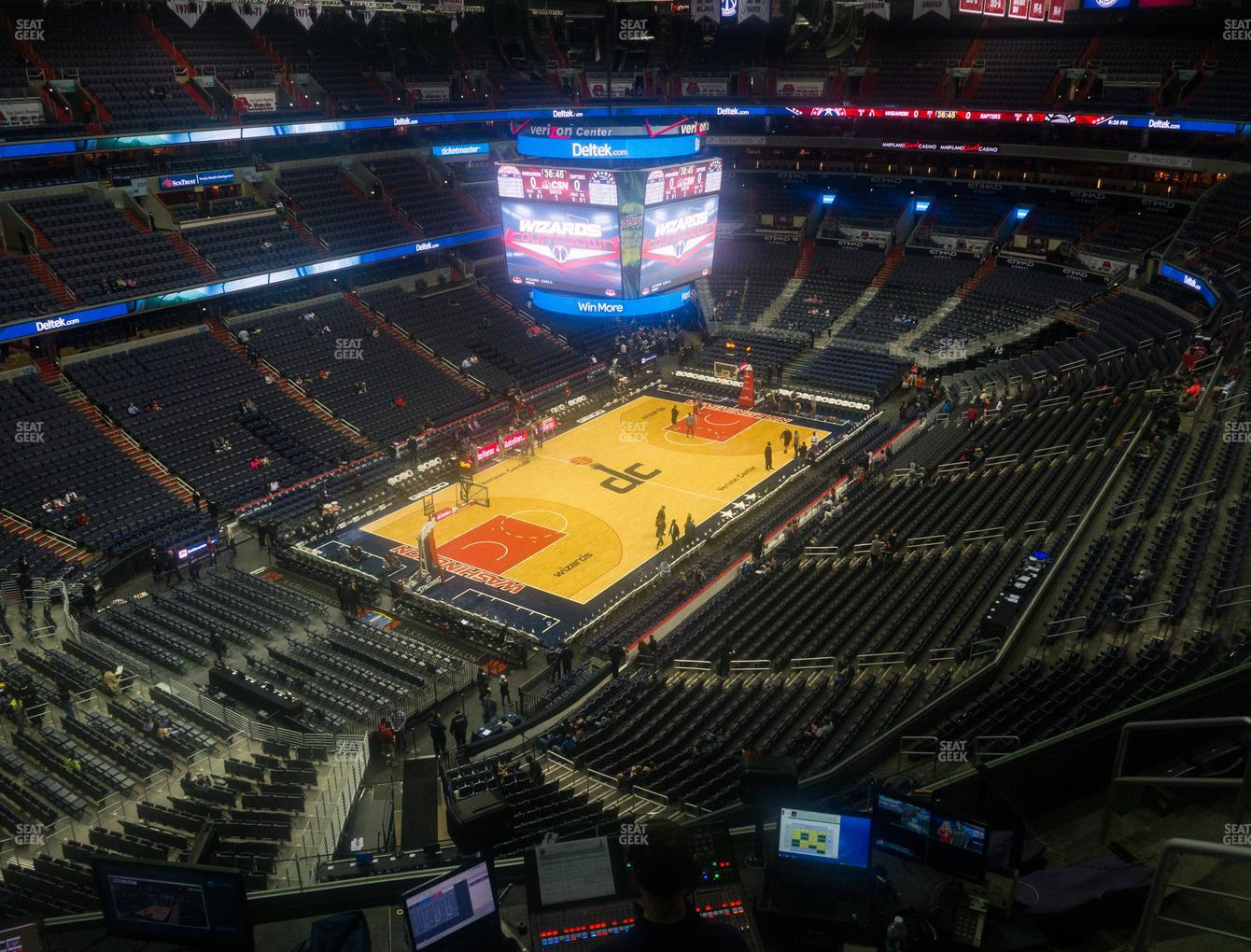 Washington Wizards at Capital One Arena Section 412 View