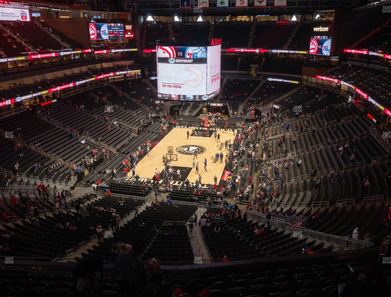 Atlanta Hawks at State Farm Arena Section 202 View