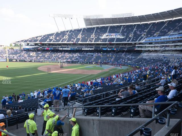 Kauffman Stadium Section 210 view