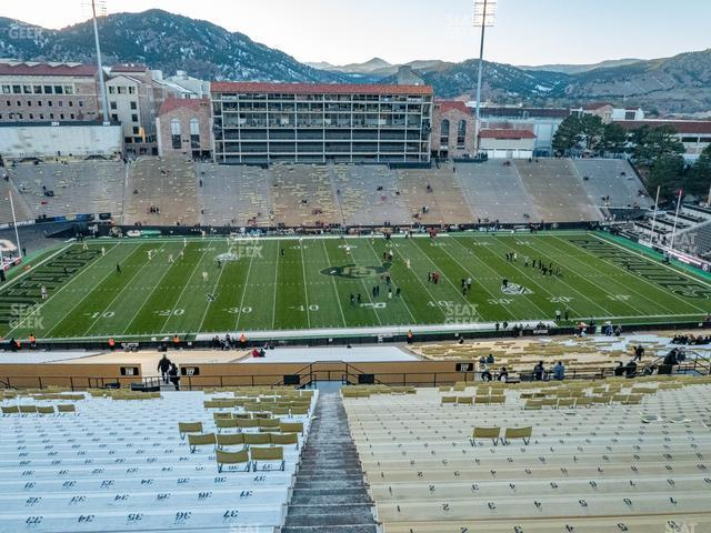 Folsom Field Section 567 view