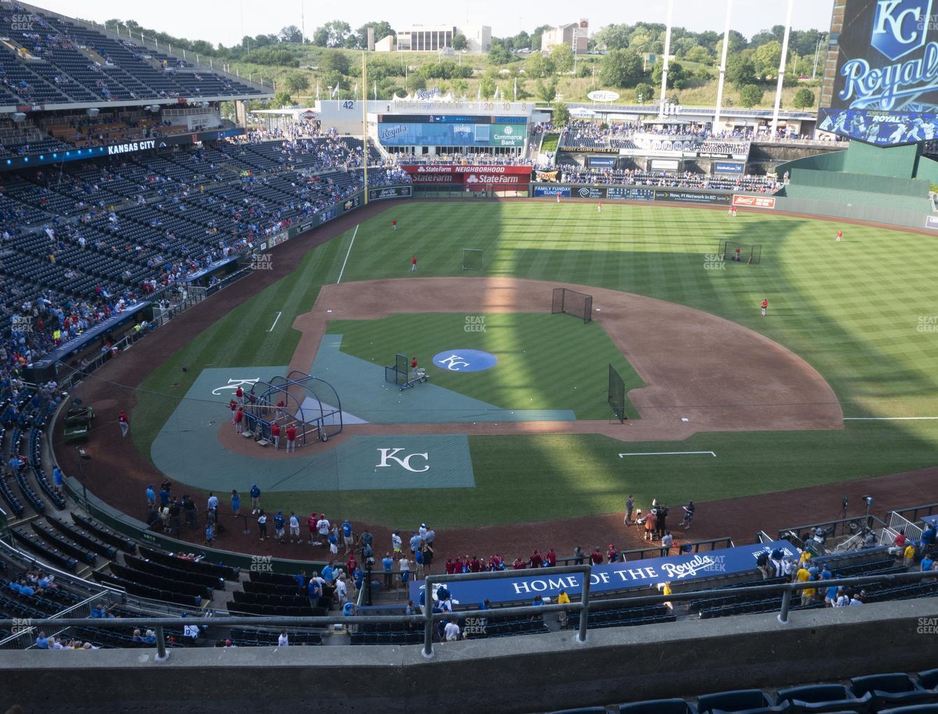Kansas City Royals at Kauffman Stadium Section 427 View