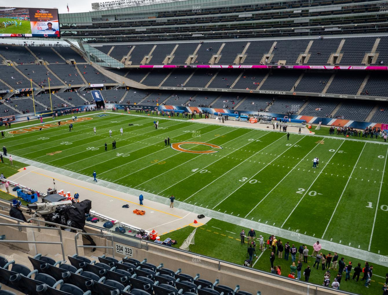 Chicago Bears at Soldier Field Section 333 View