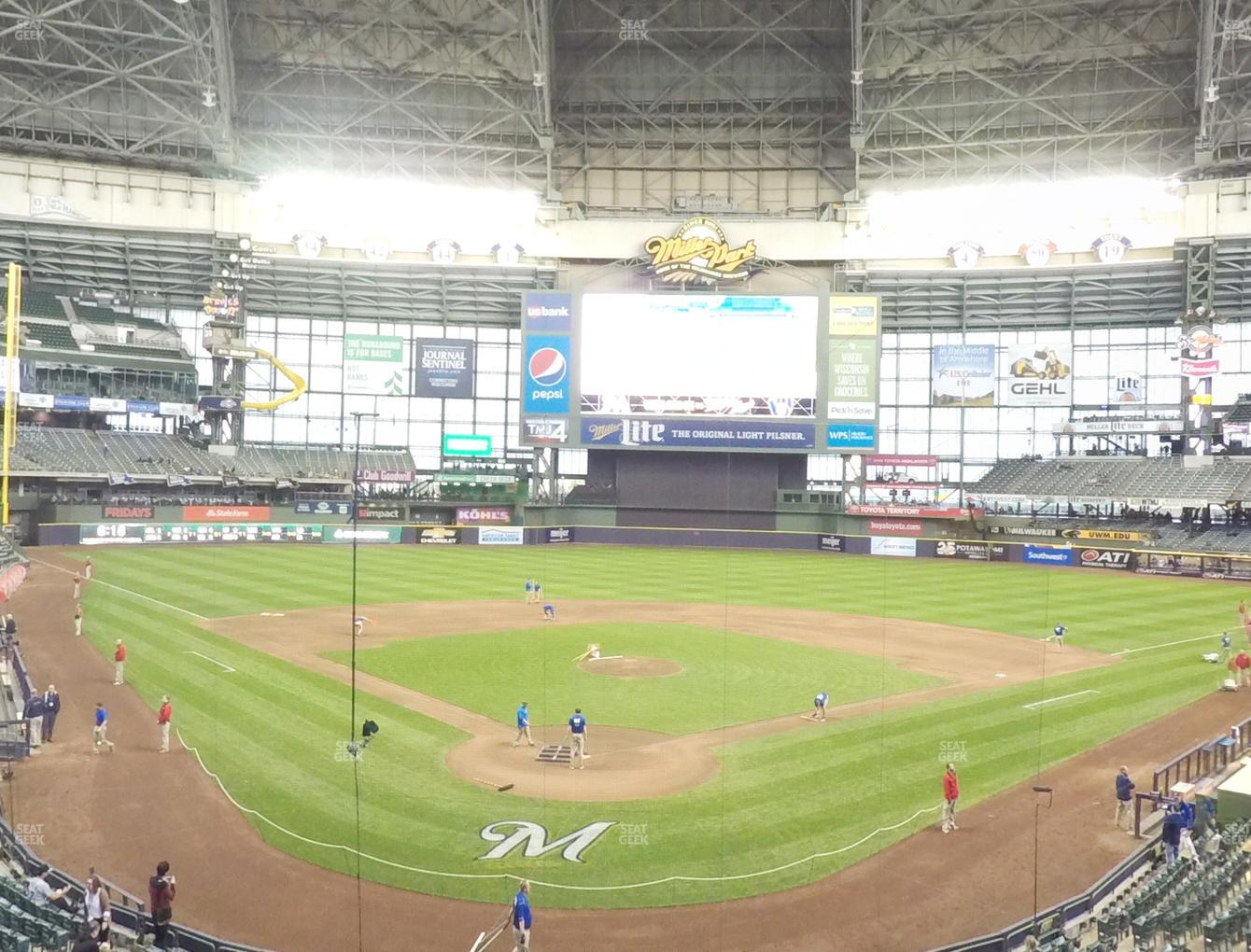 Concert at Miller Park Section 218 View