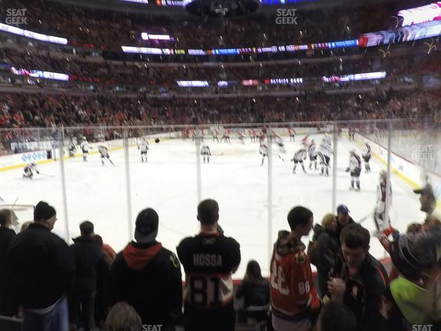 United Center Section 116 view