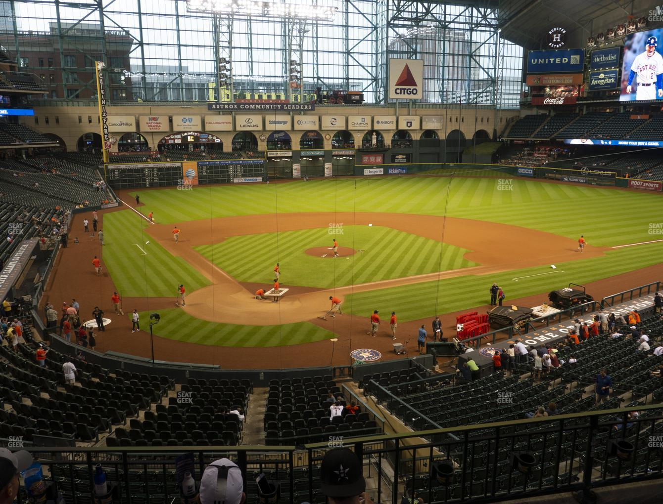 Houston Astros at Minute Maid Park Section 221 View