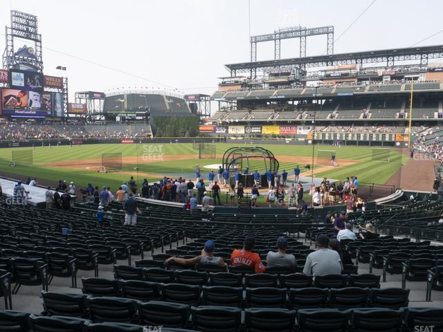 Coors Field Section 132 view