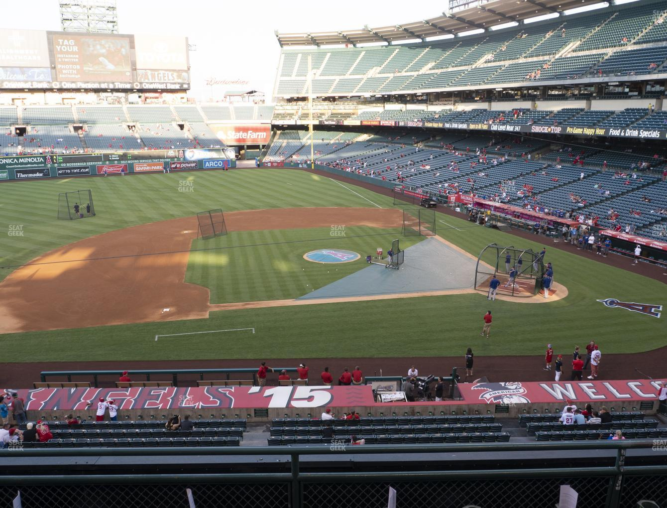 Los Angeles Angels at Angel Stadium of Anaheim Section 318 View