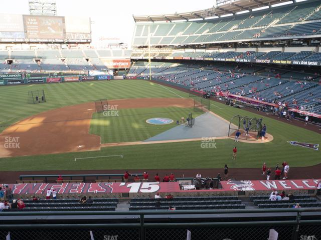 Angel Stadium of Anaheim Section 318 view