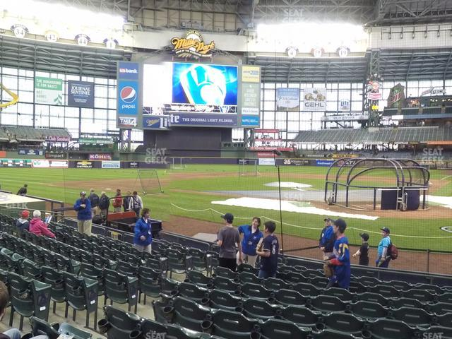 Miller Park Section 119 view