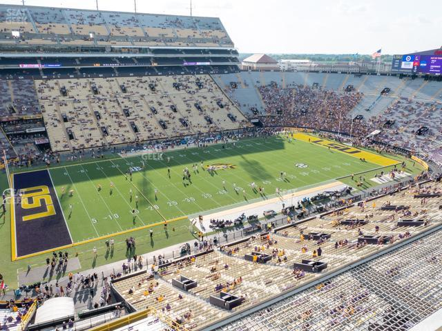 LSU Tiger Stadium Section 540 view