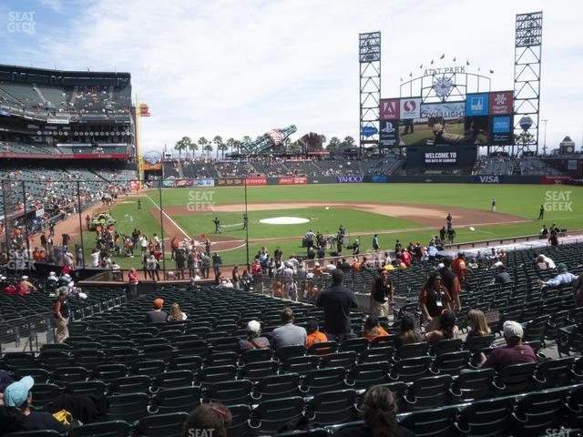 Oracle Park Section 112 view