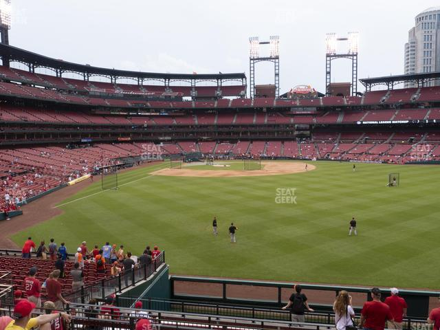 Busch Stadium Lower Right Field Bleachers 109 view