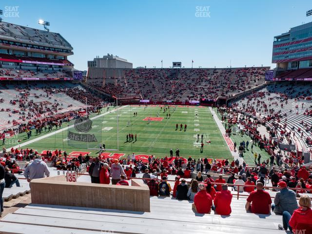 Memorial Stadium Nebraska Section 35 view