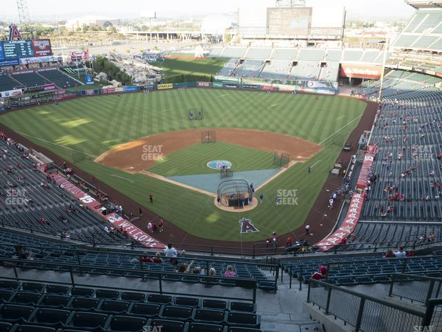 Angel Stadium of Anaheim Section 519 view